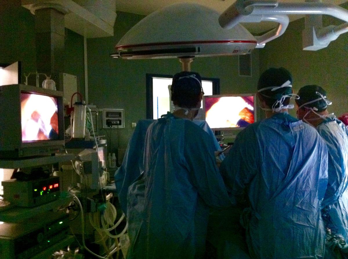 Laparoscopia sala chirurgia Laparoscopica